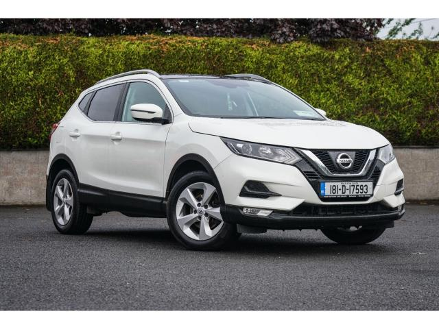 2018 Nissan Qashqai 1.5 DSL SVE Glass roof, Pearlescent White